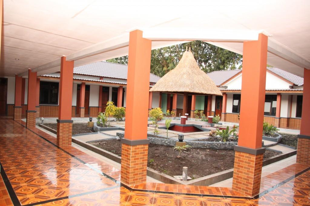 De binnentuin van het nieuwe fraterhuis